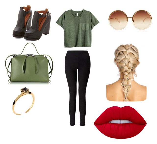"""Untitled #41"" by mimiisou ❤ liked on Polyvore featuring Miss Selfridge, Jil Sander, Katie Rowland, Linda Farrow and Lime Crime"