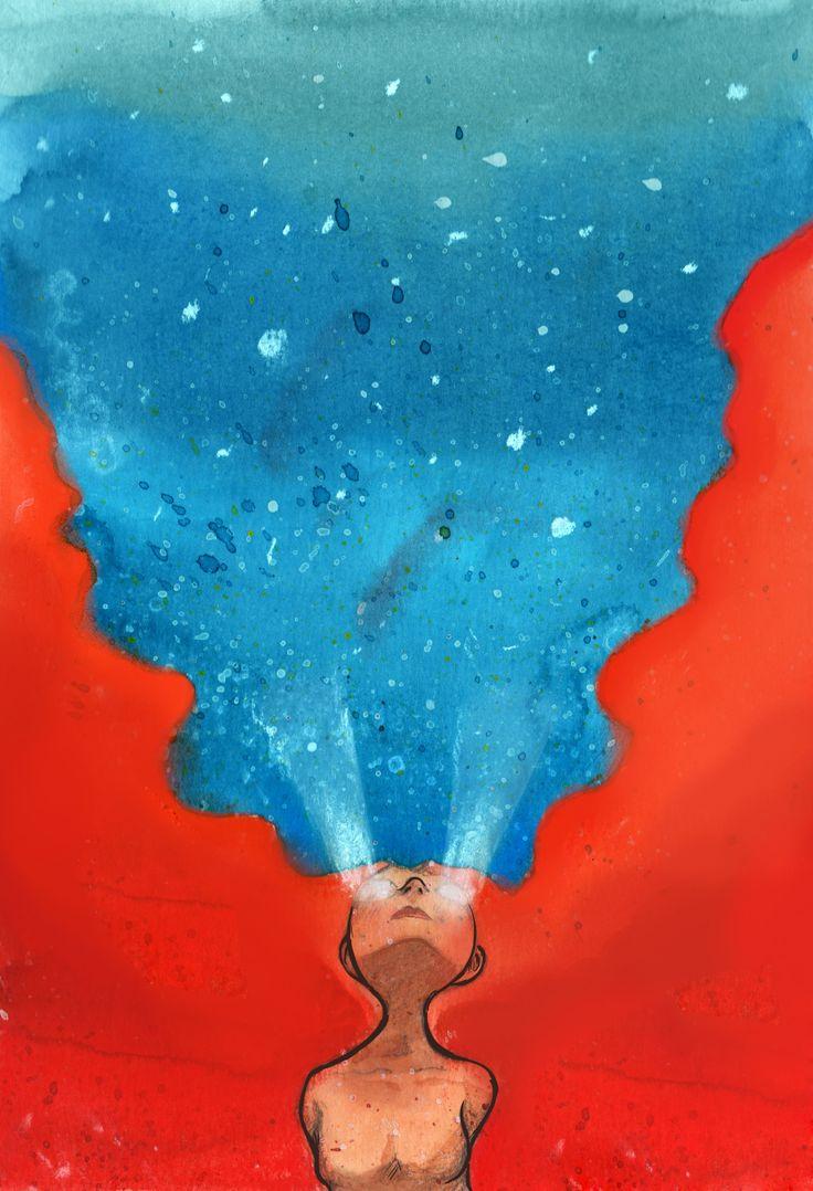"""LIBERTE-SE!"" - Aquarela  ""FREE YOURSELF!"" - Watercolor"