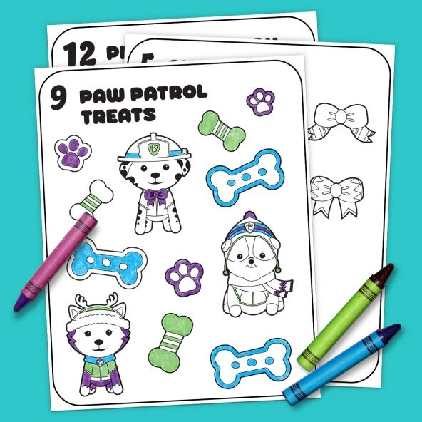 12 Days of Nick Jr. Coloring Paw patrol printable coloring pages