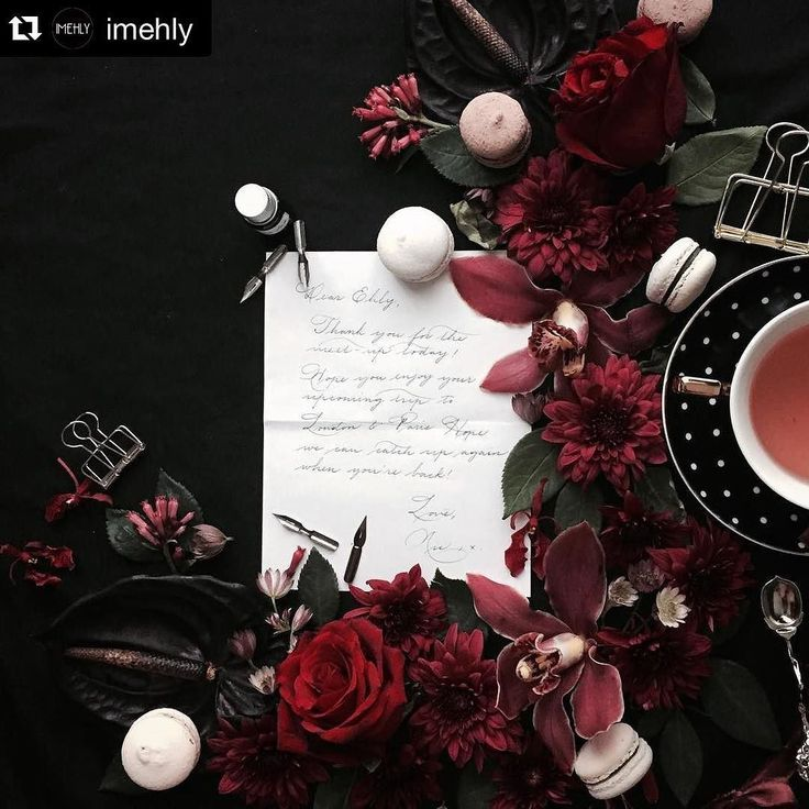 #Repost @imehly. Felt like the perfect mood for a rainy monday afternoon. Some sweets and some tea would be great right now as we are drowning in our e-mails.  {love letters} Dear Ehly x Love Nic  Have been wanting to recreate a similar scene ever since I stumbled upon @evgeniya.prinsloo's gorgeous feed X  Be Inspired & Recreate - don't imitate!