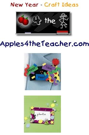 Fun New Years Eve crafts for kids - New Year craft ideas for children.   http://www.apples4theteacher.com/holidays/new-years-day/kids-crafts/