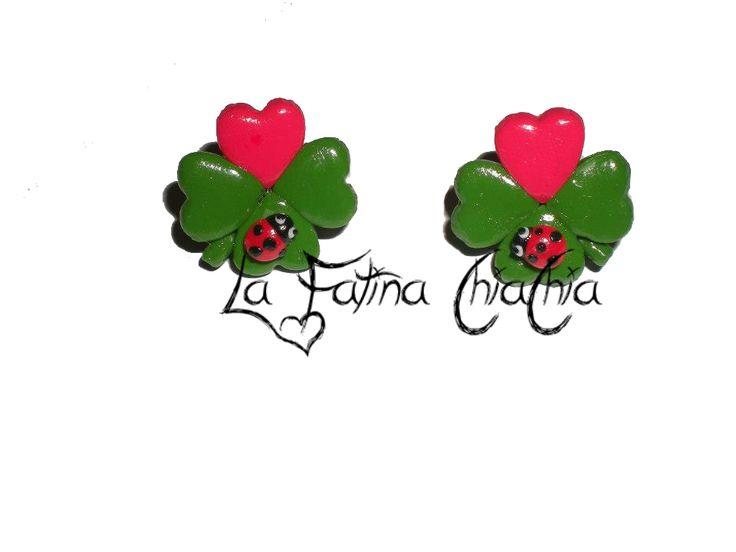 Quadrifoglio san Valentino -  #Fimo