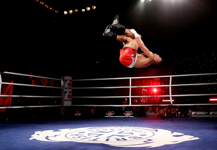 Joe Joyce of British Lionhearts celebrates his victory over Avery Gibson of USA Knockouts during their 91+kg bout during the World Series of Boxing Match between British Lionhearts and USA Knockouts at York Hall on January 17, 2013 in London, England.    Photo by Scott Heavey/Getty Images