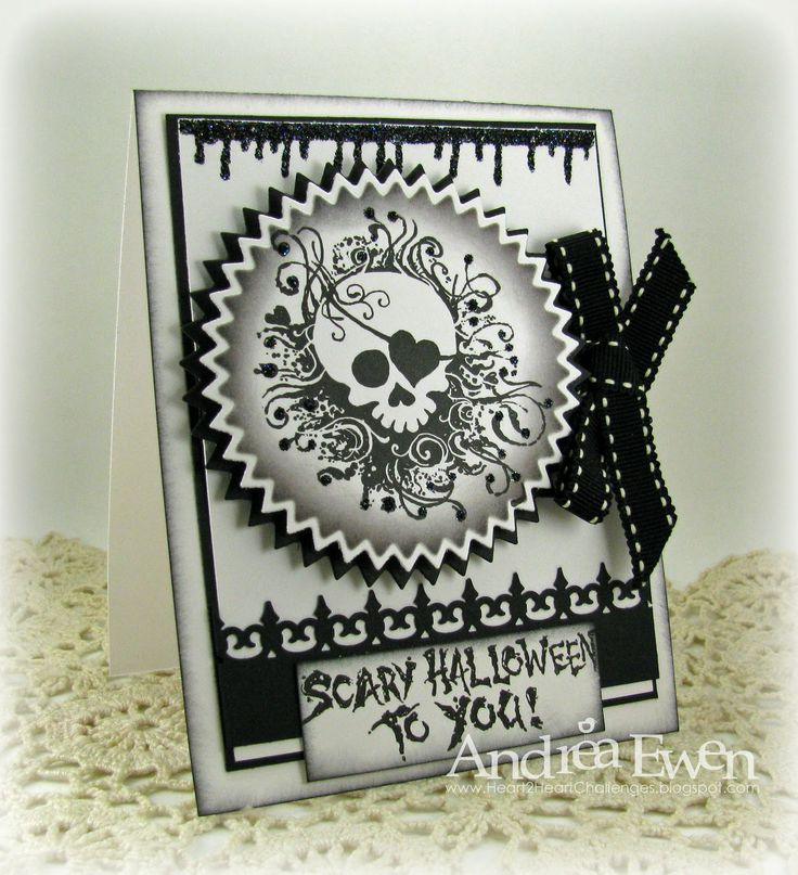 Scary Halloween to you - EwenStyle: Cards Crafts Halloween, Cards Halloween Bon, Creative Therapy, Cards Ideas, Halloween Cards, Cards Halloween Ii, Cards Halloween Fal, Hearthappi Halloween, Heart Happy Halloween