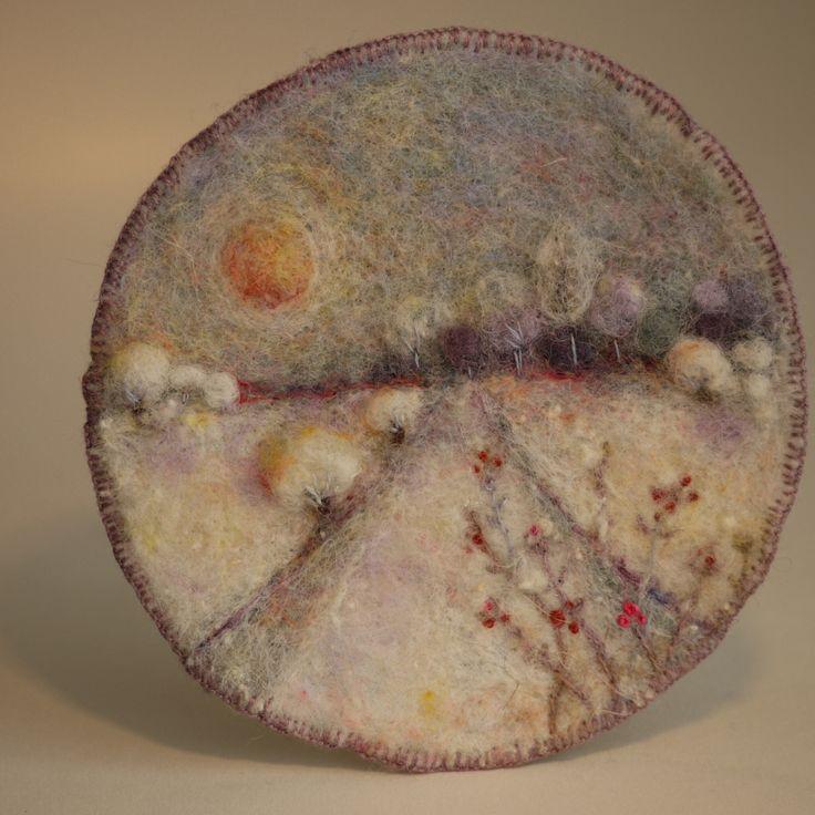 Embroidery on felt by daniela romeijn