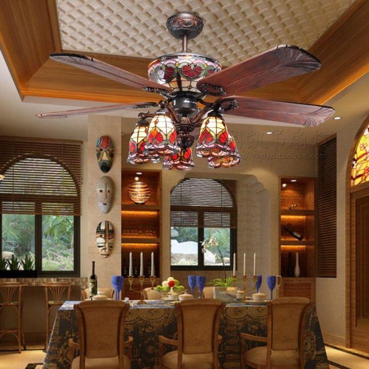 Tiffany Ceiling Fan Dining Room Inspirations