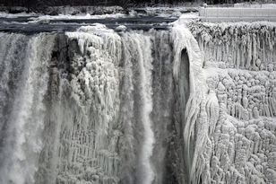 Niagara Falls from the Polar Vortex.  Blizzard of 2014.