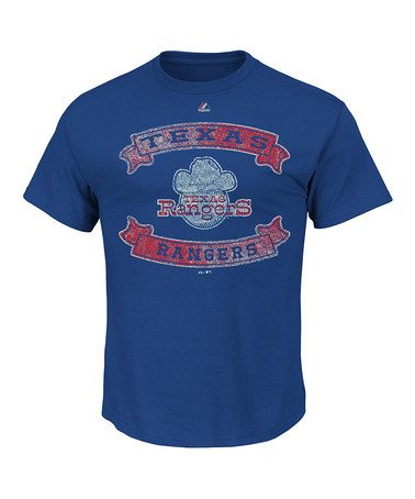 Loving this Texas Rangers Distressed Graphic Tee - Men & Tall on #zulily! #zulilyfinds  I Love the Texas Rangers but sometimes they do act distressed.