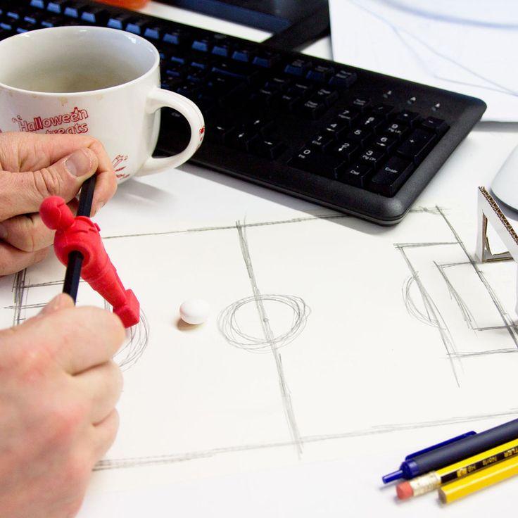 #design3000 Radiergummis im Tischkicker-Look #office