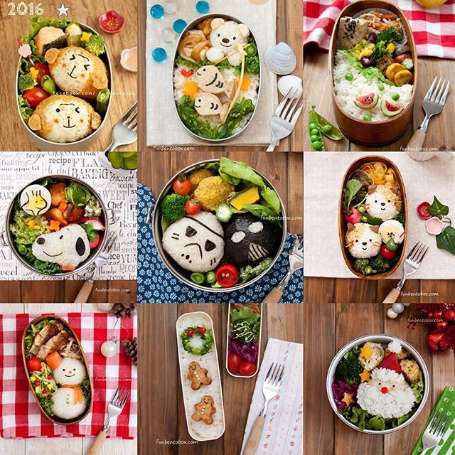 #2016bestnine from funbentobox.com :-) Looking forward to making more fun bento box in 2017!  #healthyeating #healthylunch #vegan #vegetalian #tofu #kyaraben #japanesebento #kidslunch