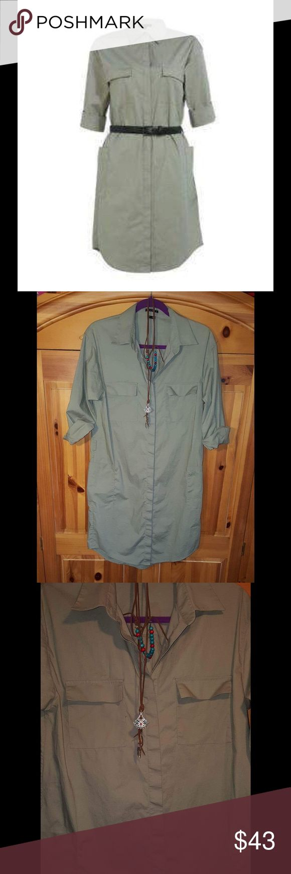 50% OFF THEORY Meliba Stretch Poplin Shirt Dress EUC. Button down. Army pockets. Very comfortable and it has stretch. Belt not included. Length 36 in Please ask if you have any questions!! Same day shipping on purchases made before 2PM PST Theory Dresses Midi
