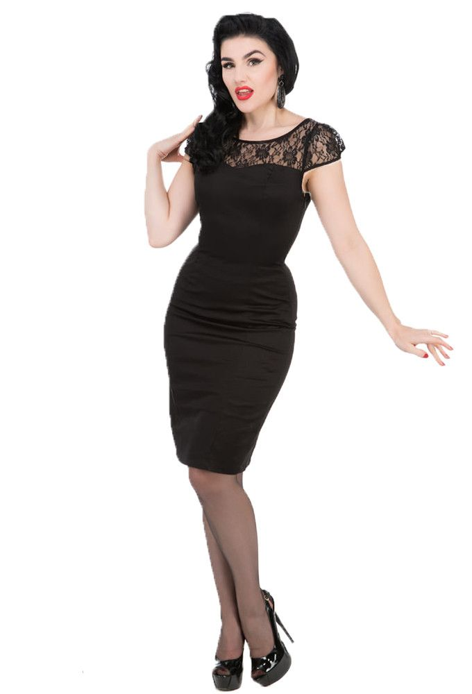 Hearts and Roses London - H&R Black Bombshell Wiggle Dress