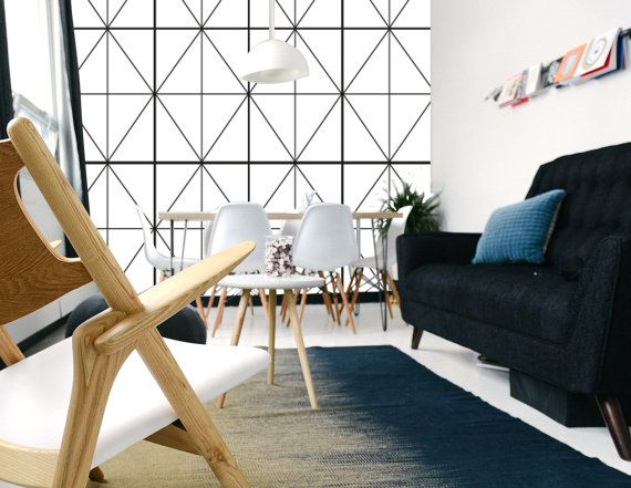 Geometric Diamond Wallpaper DIY Removable Wallpaper by Nicematches