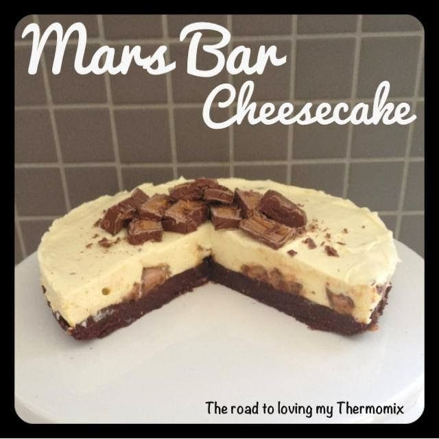 "The old ""roadies"" here know how much I looooooooooove cheesecake. My blog has quite a few in it. You can use any chocolate bar you like in place of the Mars Bar. A more cost effective option for the base is using a plain biscuit and 15g cocoa powder. When using cream cheese without gelatine for cheesecake be"