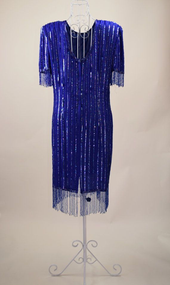 Stenay Vintage 80's Sequin Party Cocktail by GoodWitchVintageShop