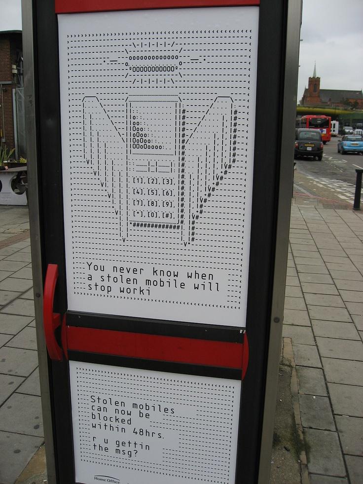 Ascii advertising