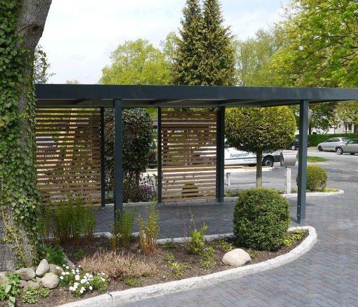 vorgarten gestalten mit carport modern. Black Bedroom Furniture Sets. Home Design Ideas