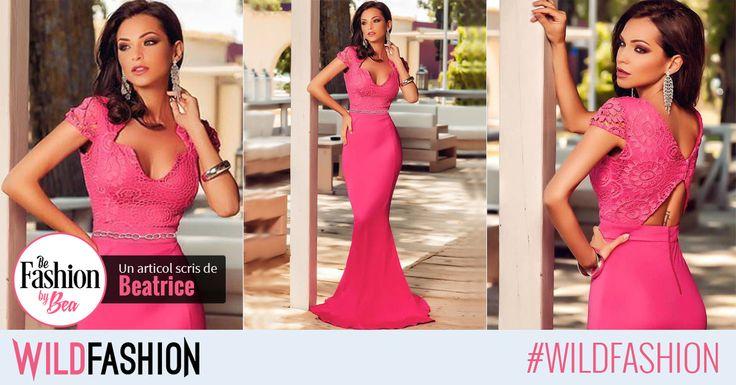 Pentru o aparitie definita de stil si eleganta, poarta la evenimentele din aceasta toamna o rochie tip sirena roz.