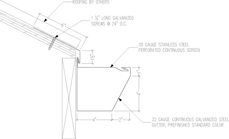 Gs 600 Series 5 In X 6 In Continuous Gutter Details Download Gutter Detail Continuity