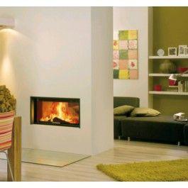 De #Spartherm Varia A-FDh H2O is een strak ingebouwde tunnelhaard. De Varia A-FDh H2O behoort tot de serie CV haarden van Spartherm. #Houthaard #Houtkachel #Kampen #Interieur #Fireplace #Fireplaces