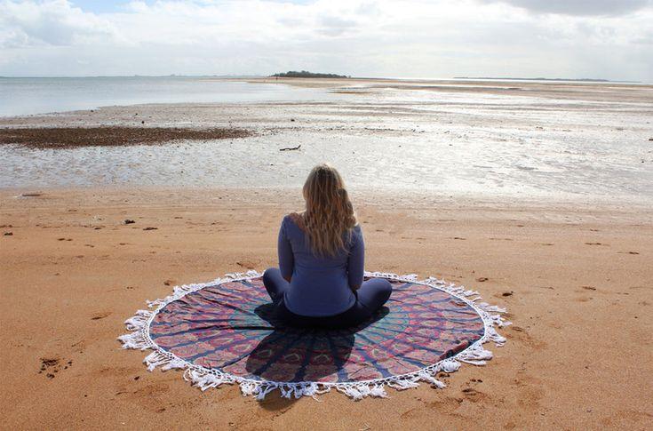 Yoga Mats & Equipment – Indian Mandala Wall Decor Meditation Tapestries – a unique product by IndianCraftPalace on DaWanda