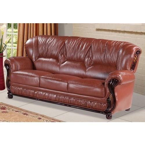 MIna Brown Leather Sofa Part 46