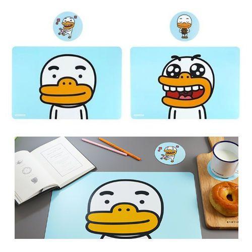 Kakao Friends Tube Kitchen Dining Desk Table Mat 2 pcs Cup Coster 2pcs Gift Set #DaumKakaoFriends