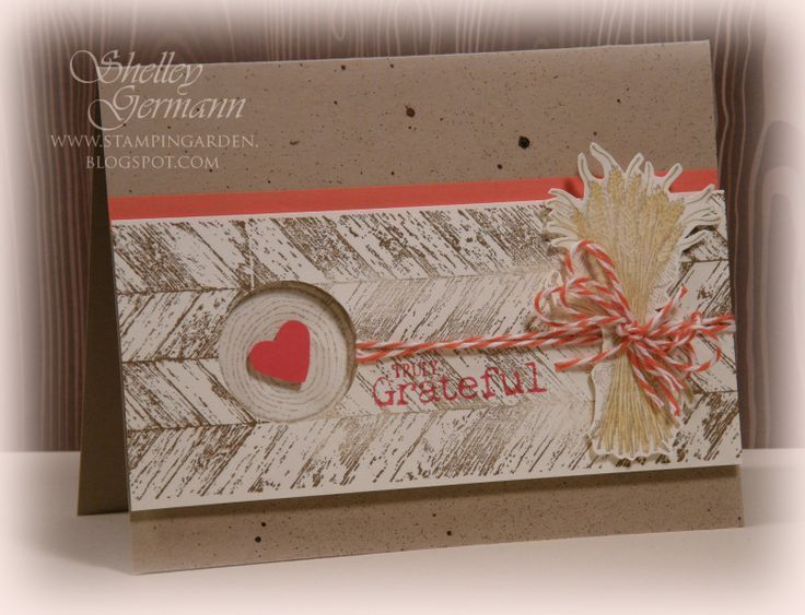 Stampin up truly grateful truly grateful heart in knot