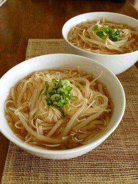 もやしだけで大満足!ラーメンみたいな素麺 by YUKIKI☆ [クックパッド ...