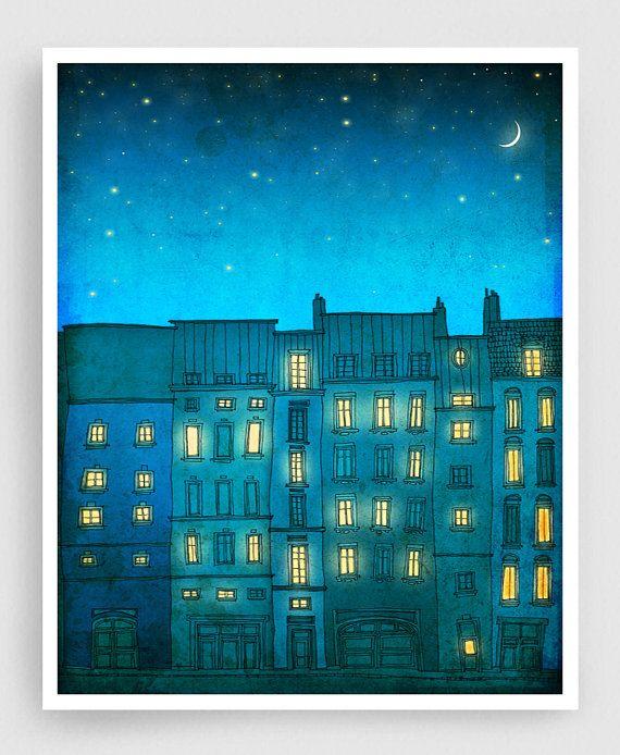Non sei da solo verticale  illustrazione di Parigi Art   Etsy
