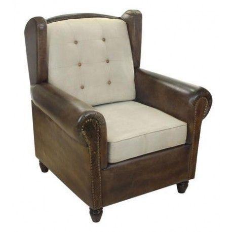 silln vintage de color marrn perfecto para dar un toque elegante a nuestro saln o a