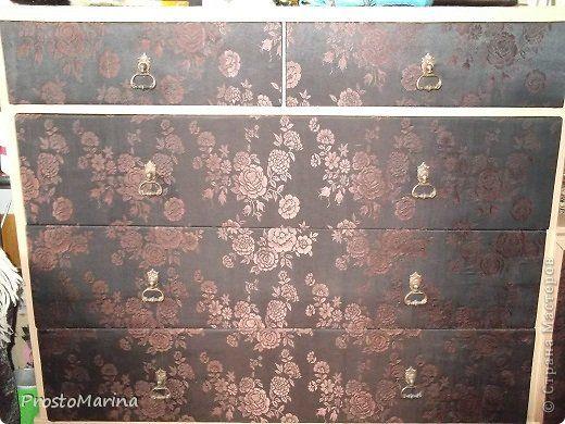 Интерьер Моя переделанная мебель Ткань фото 6