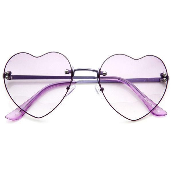 Cute Summer Colorful Heart Shape Womens Sunglasses