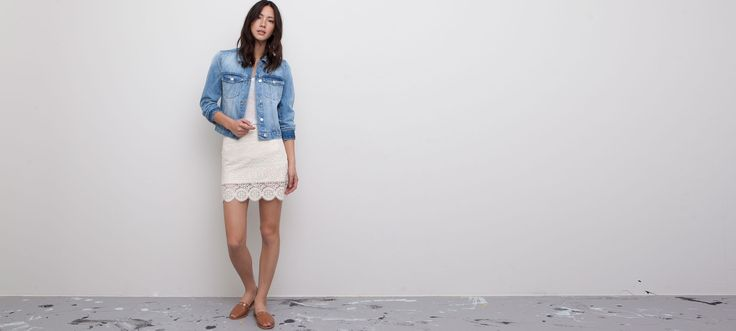 EMBROIDERED SKIRT WITH A SCALLOPED EDGE HEM - SKIRTS - WOMAN - PULL&BEAR United Kingdom