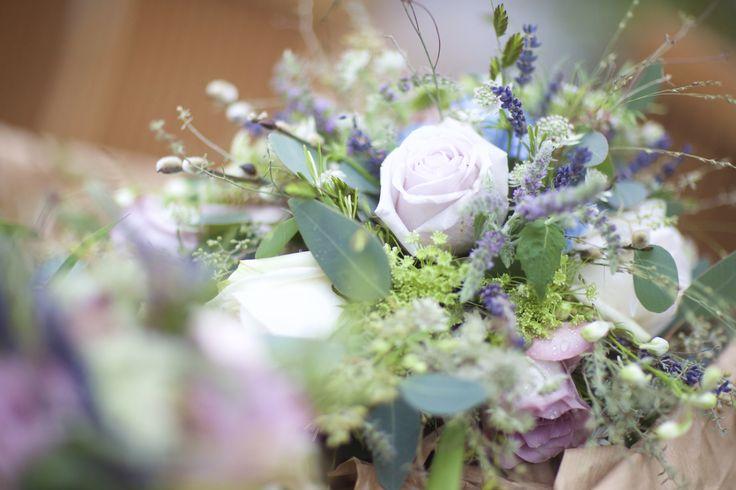 Rustic wedding flowers, romantic pastels, love
