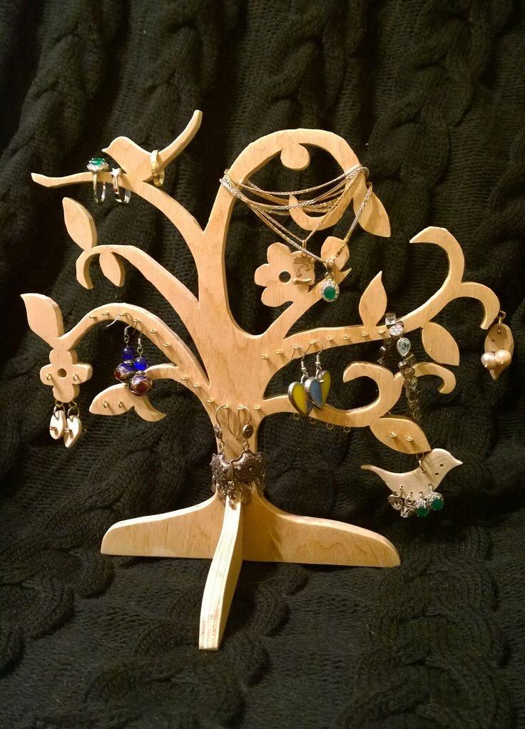 Стенд подставка для украшений в виде дерева Дерево для бижутерии