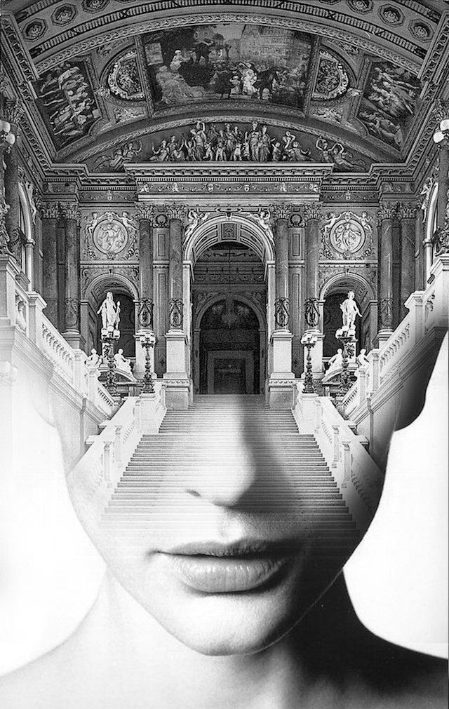 Dreamy Portraits Fuse Human Faces with Nature and Architecture - My Modern Met - by Antonio Mora