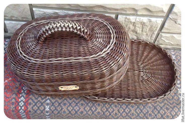 Корзины, коробы ручной работы. Ярмарка Мастеров - ручная работа. Купить Хлебница овальная (венге). Handmade. Хлебница, плетение из бумаги