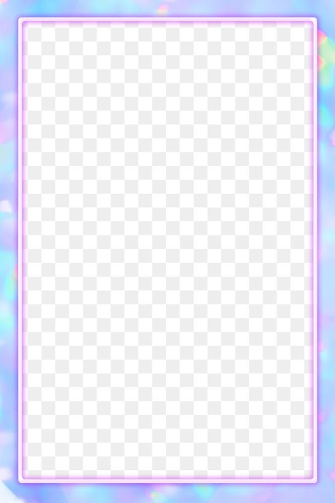 Pink Neon Frame Png Glittery Holographic Effect Free Image By Rawpixel Com Sasi