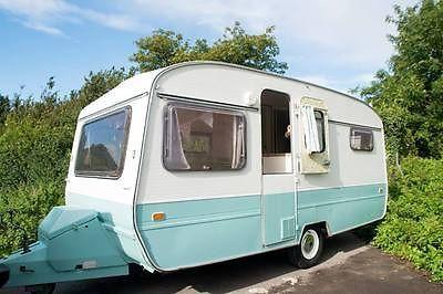 Restored 1981 Eccles Classic Shabby Chic Retro Glamping 6 Berth Caravan & Awning