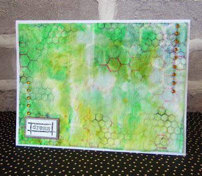 Wet Wipe background by Gemma #artisticstamper #inkykitty #mixedmedia #backgrounds #handmade #cards #handmadecards