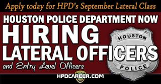 Houston Police Department: Lateral Hiring Flyer