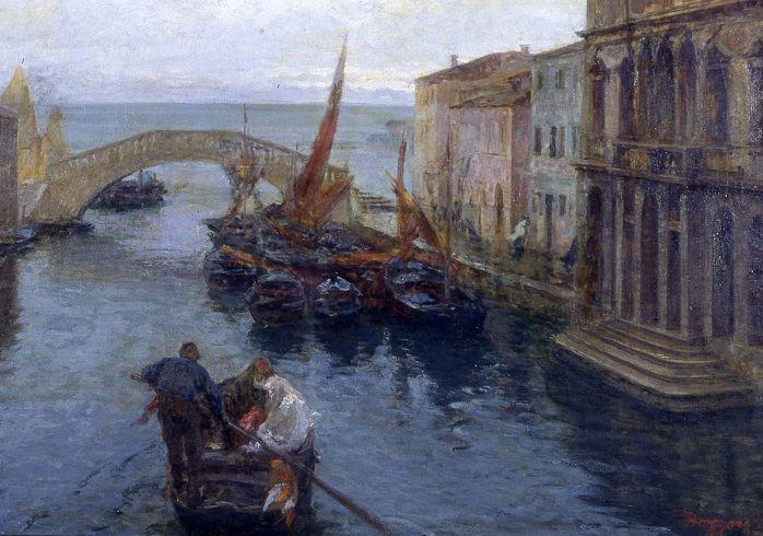 Bazzaro Leonardo, Marina di Chioggia, Galleria d'Arte Moderna Ricci Oddi, Piacenza