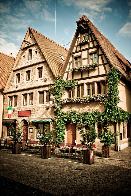Rothenburg ob der Tauber, Bavaria, Germany.  A walled city.  The one ladies bathroom we could find was attached to a women's house...and yes you had to pay.  We could see right into her living room.