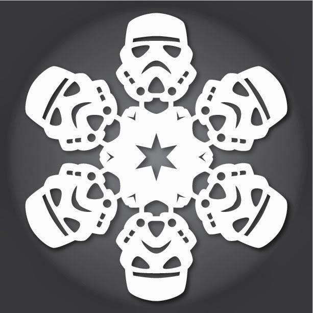 Copos de nieve de papel... de la Guerra de las Galaxias