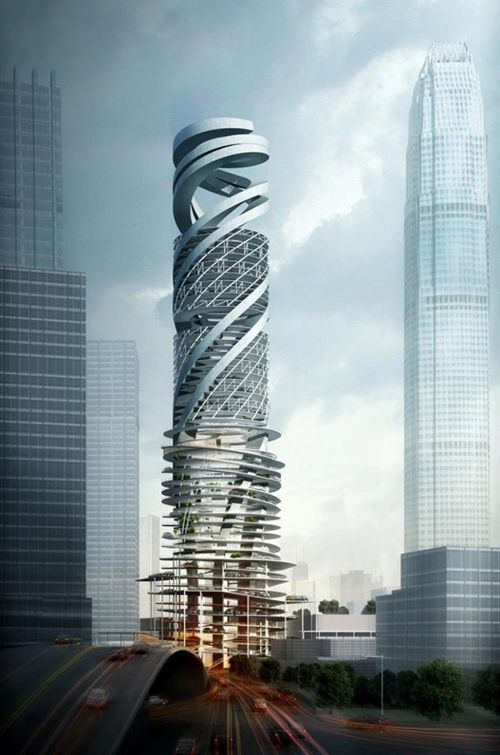 (Spiraling) Car Park Tower by Mozhao Studio