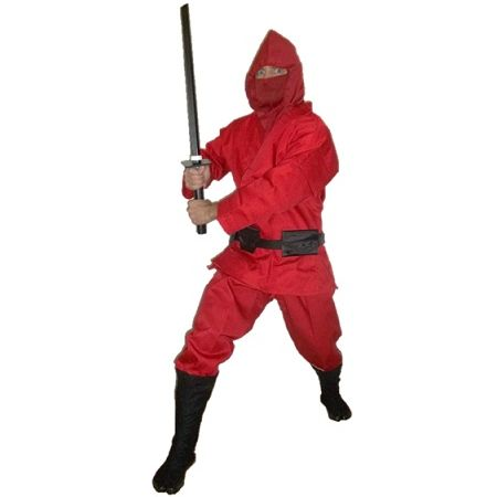 Red Modern Ninja Uniform and accessories