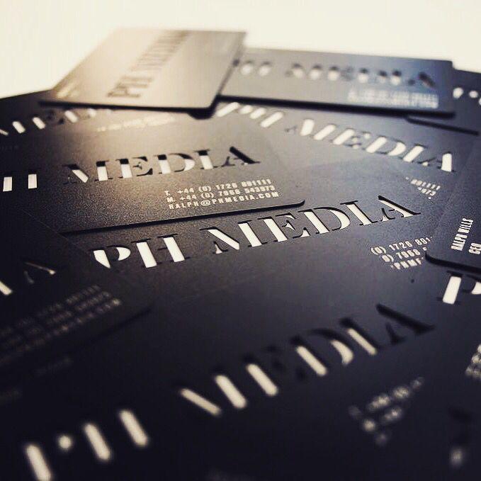 Matt Black Stainless Steel Cards Metal Business Cards Business Card Inspiration Steel Cards