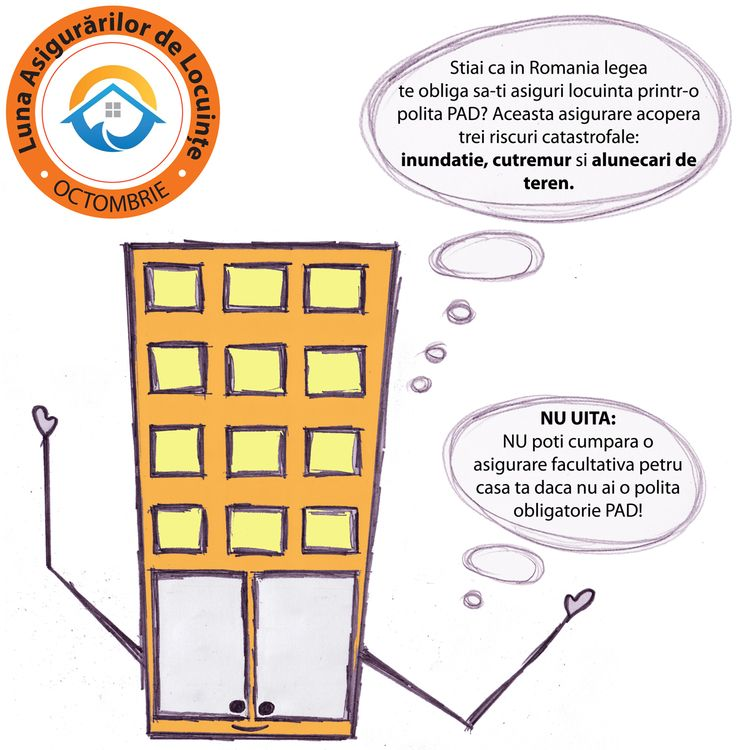 Casa fara Griji va reduce aminte ca #asigurarea locuintei este obligatorie in Romania. Mai multe informatii despre politele obligatorii PAD gasiti si pe http://bit.ly/asigurareObligatorie #lunaasigurarilordelocuinte