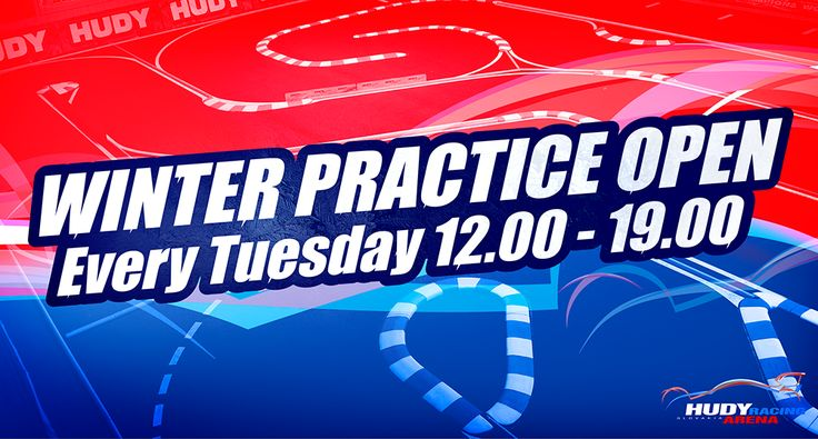 The winter practice season 2016/2017 is open at Hudy Arena.  Every Tuesday you can practice at the indoor on-road and off-road tracks. For this season the practice will start already at 12.00 and will last until 19.00.   The on-road track features ETS carpet and the off-road track features EOS track. Both tracks will host the ETS and EOS races in the season 2016/2017.  The annual membership is 30Eur and the practice fee is 10 Eur.